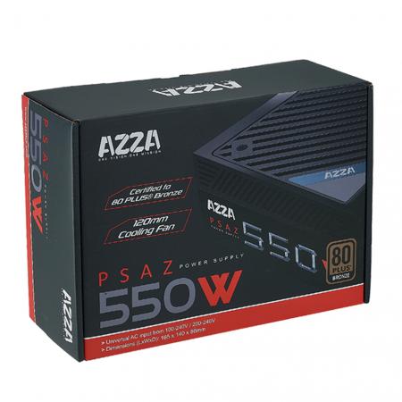 FUENTE DE PODER AZZA 550W PSAZ-550W 80 PLUS BRONCE ATX12V